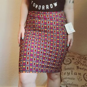 Multi-colored LulaRoe Cassie Skirt